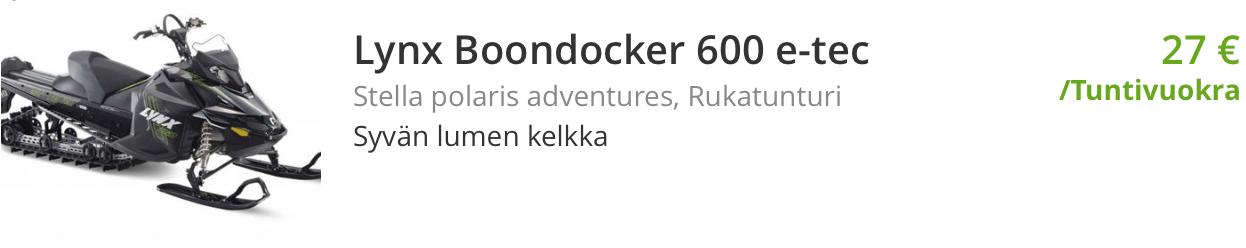 Nettivuokraus Lynx Boondocker