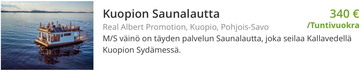Nettivuokraus Kuopion saunalautta